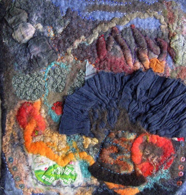 Robin Blakney-Carlson, Hommage to Sachiko (detail), Art Felt