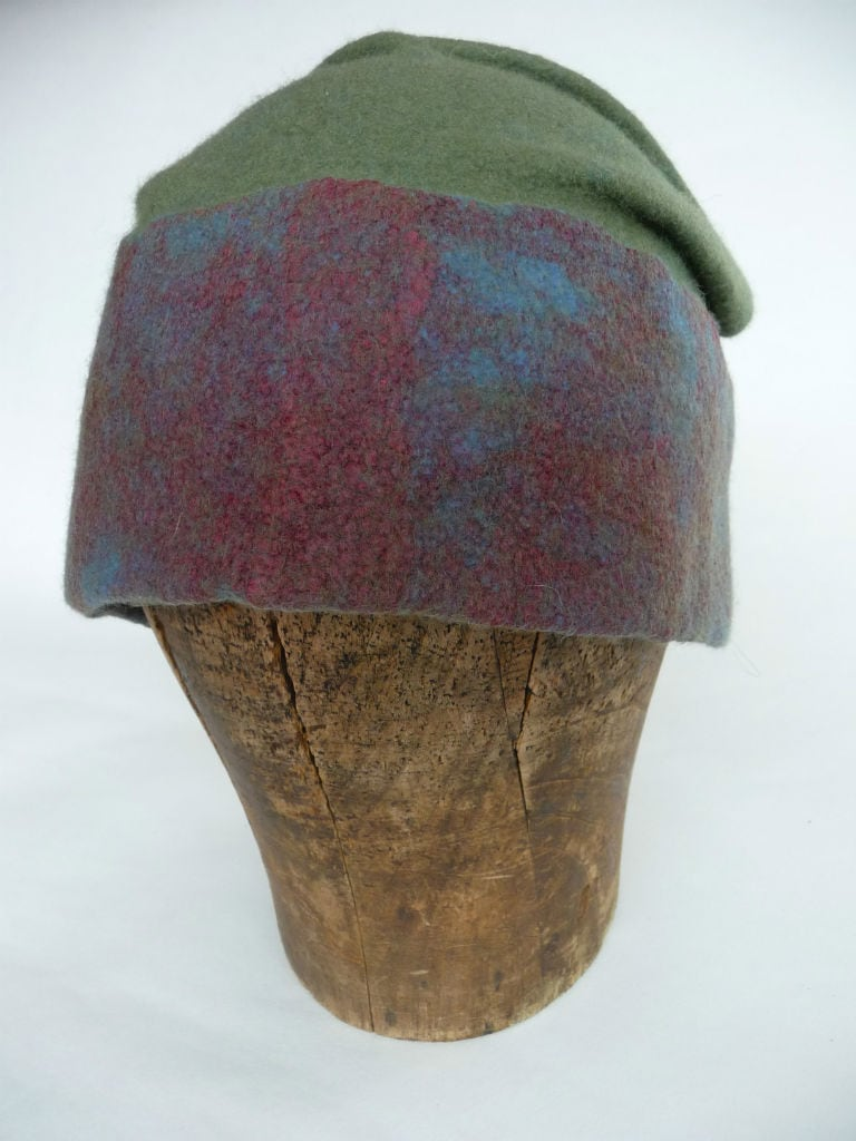 Merino wool and silk hat