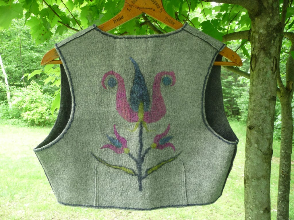 vest of merino wool and silk