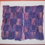 Hand-Dyed Silk and Felt Collage