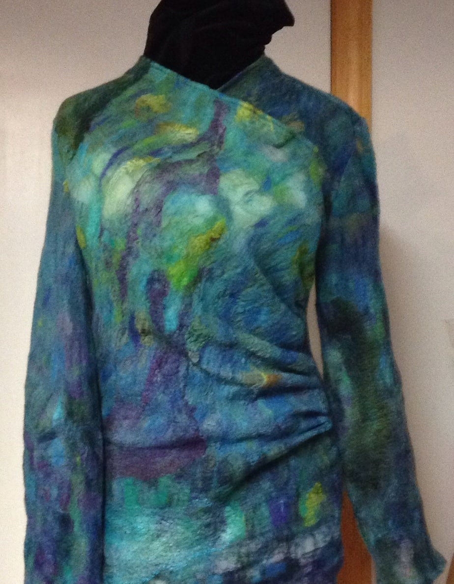 Nuno felted silk tunic