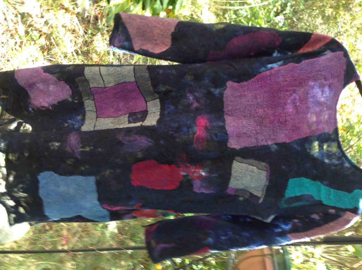 Large, luxurious nuno felted shawl using merino wool