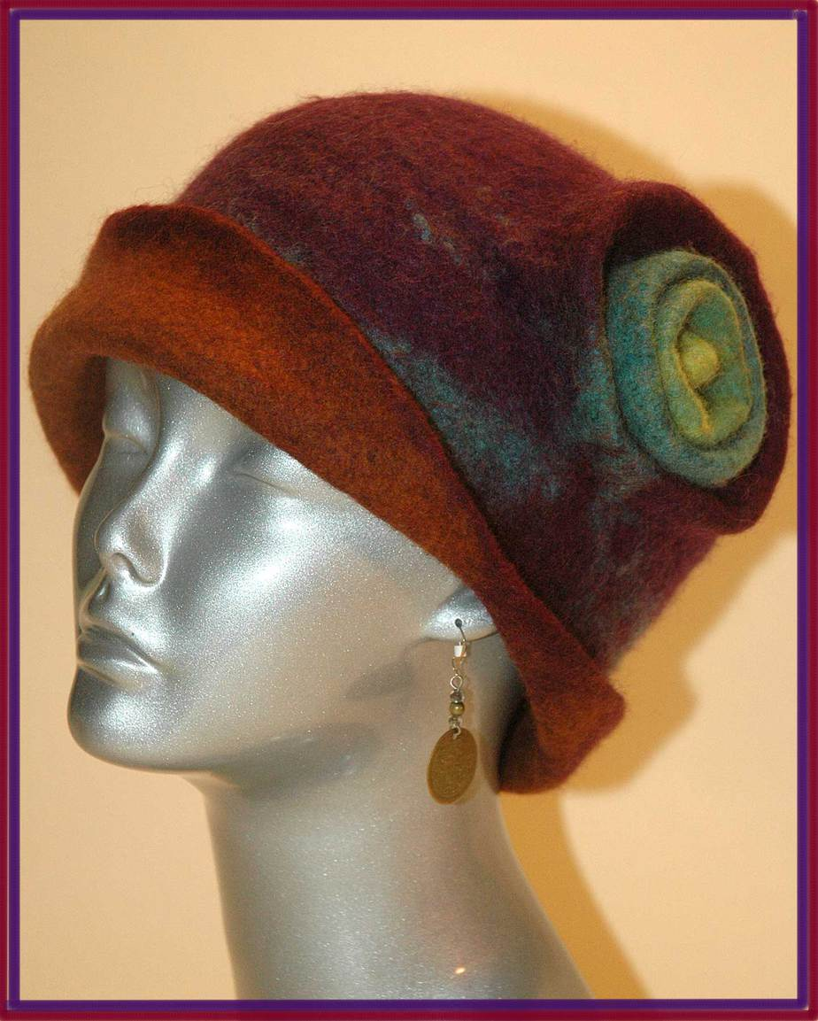 Felted cloche.