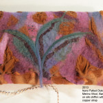 Nuno felted clutch.