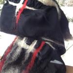 "Nuno felt scarf ""Ryunosuke"". Silk Chiffon, Alpaca, Merino wool."