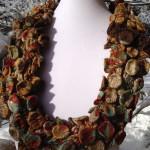 Mata Hari. Nuno felt & Shibori. Infiniti scarf/ necklace.