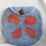 Cormo and merino wool purse