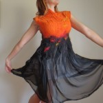 "Nuno Felt dress ""Tango Passion"""