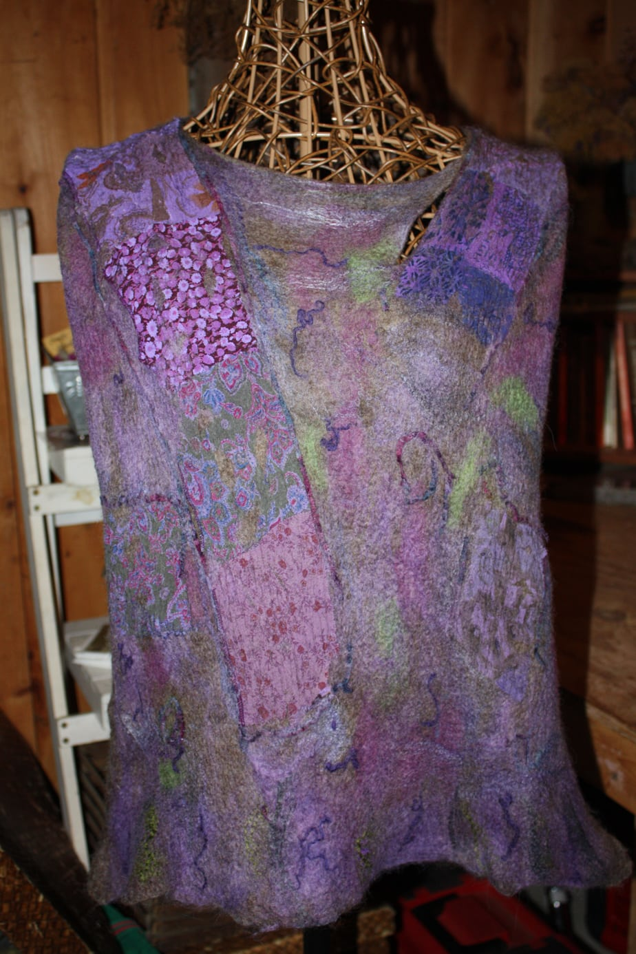 Sahdes of Purple ~ Fitted Felted Top