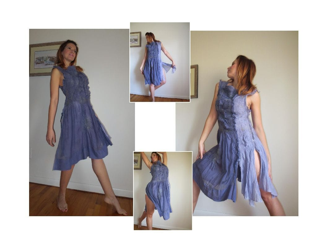 Nuno felt dress.