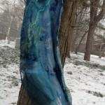 "Nuno felt dress ""Mermaid"". Silk Gause, Sari Silk, Merino wool. Seamless."