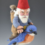 Felted Gnome Traveler