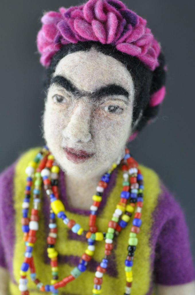 Felted Frida Kahlo