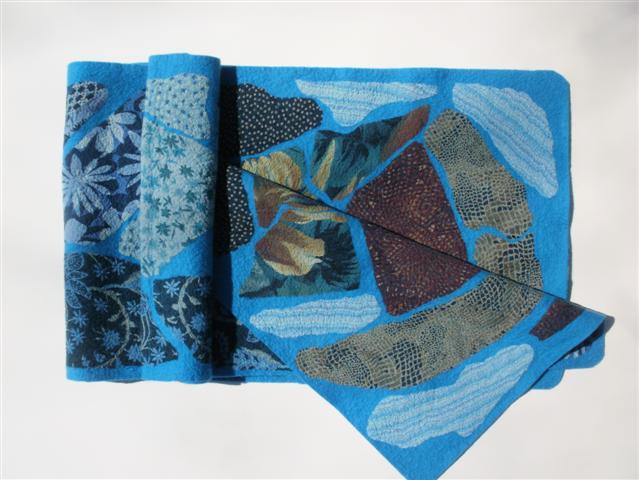 blue, blue scarf