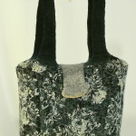 Black & White Bucket Handbag