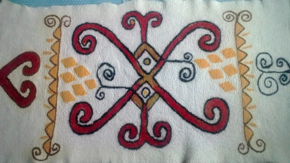 Rug with Central Asian design