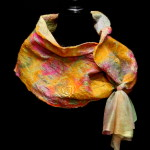 Peach Silk Wrap