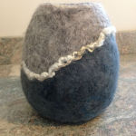 grey/blue vessel