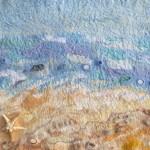 """Sea. Sand. Soul"". Fiber Art."