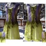 """Spring"". Nuno felt dress."