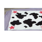 Cowgirl Stroller Blanket - 100% Alpaca