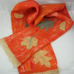 Orange Leaf Scarf