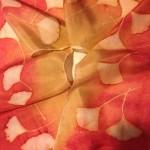 Botanical Print on Silk