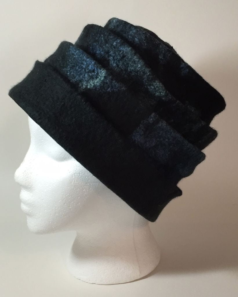 black concertina hat