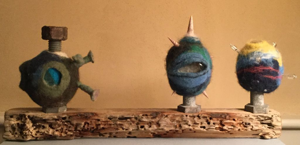 chosen for juried show of art from reclaimed materials at Mosesian Art Center in Watertown, MA