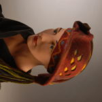 Hand dyed felt hat