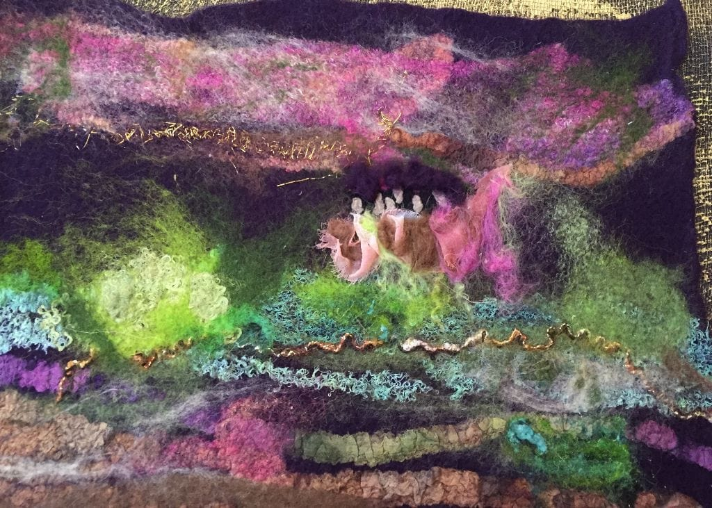 Felted Wool and Silk