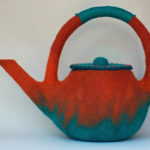 Orange and Teal Teapot