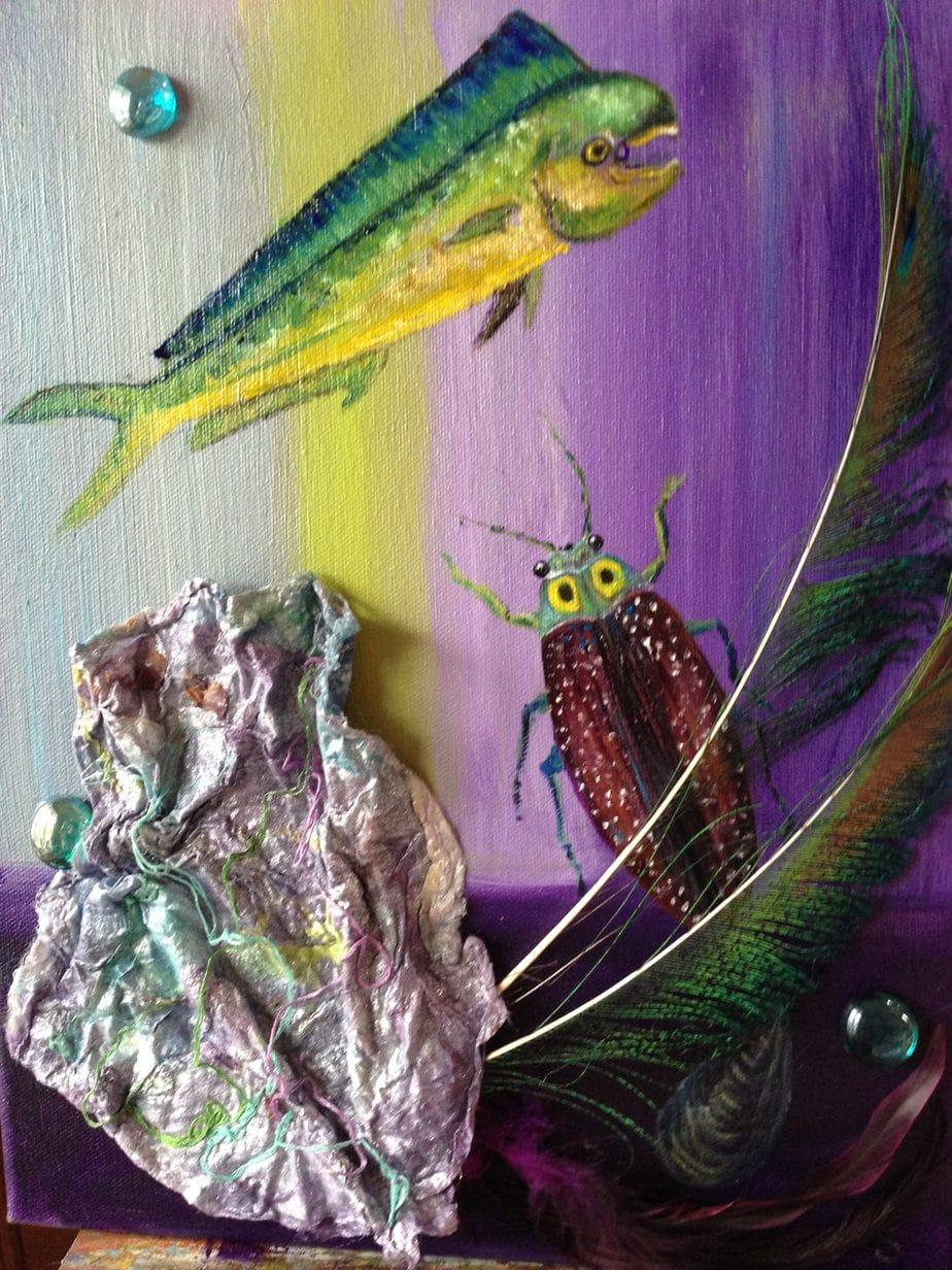 Fish and purple sea