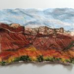 "Wool painting ""Somewhere in Canyonlands"""