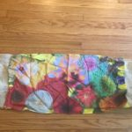Silk printed flower scarf