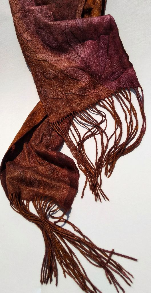 Fringed Nuno Silk and Merino Scarf