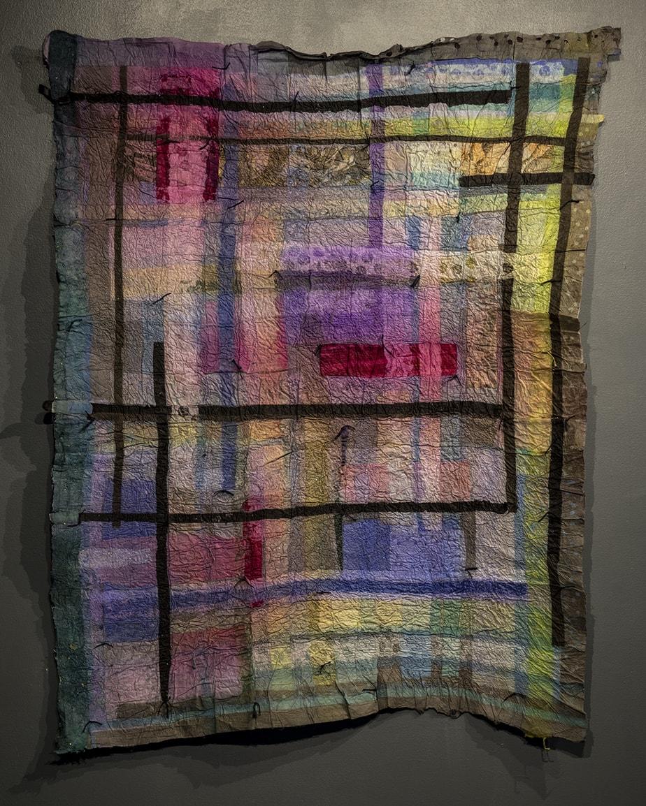 Joomchi felted quilt