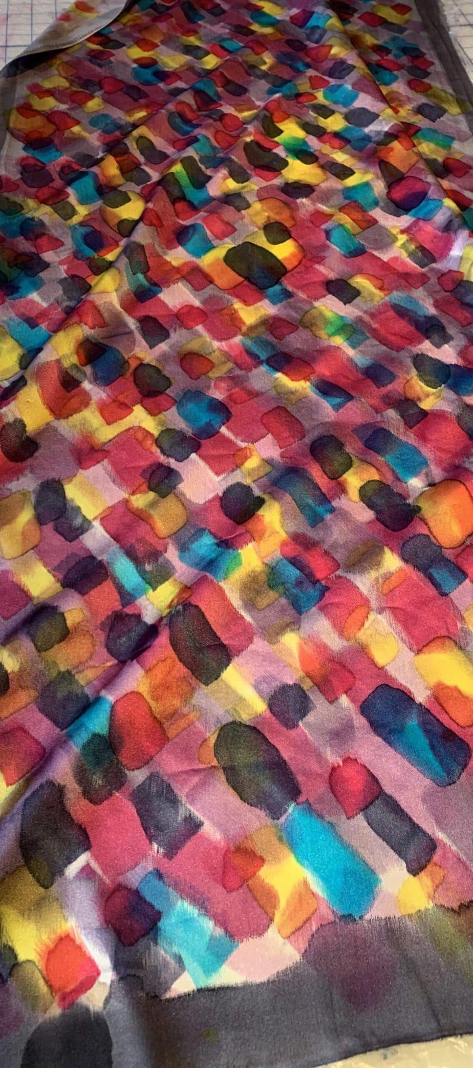 Silk painting for felting
