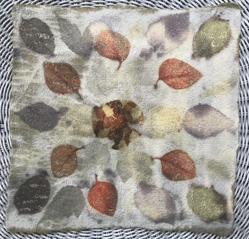 Ecoprinted tapestry