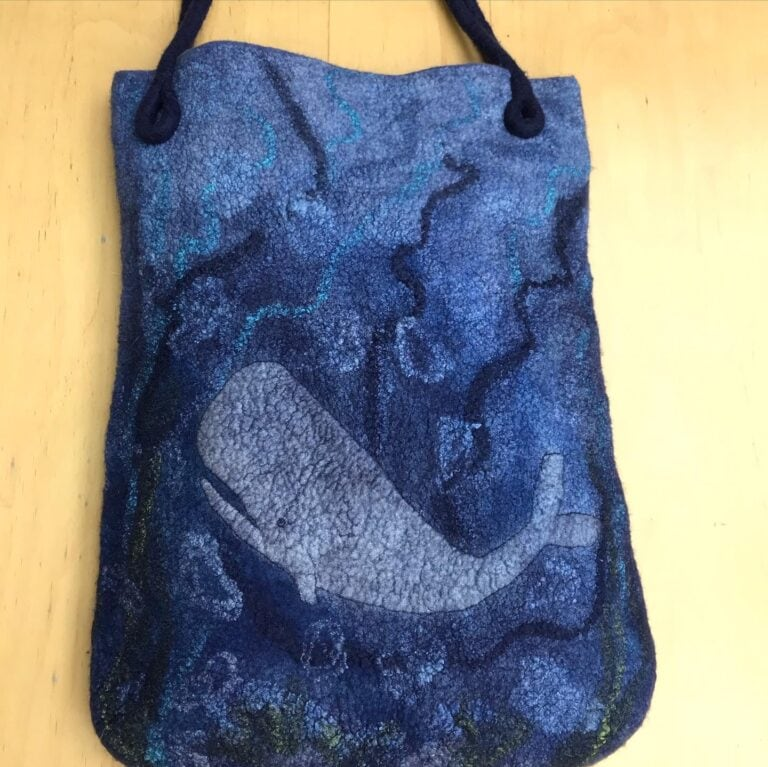 Nuno felted tote