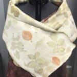 Ecoprinted Nuno shawl