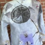 Sumi-e Ink on seamless felted jacket
