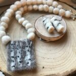 Birch Tree Necklace and Earrings