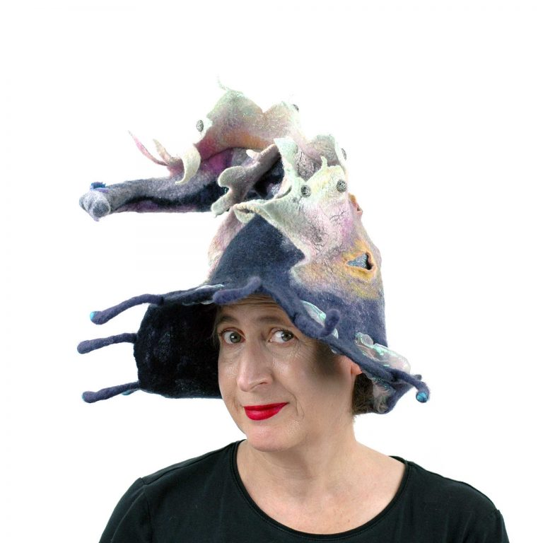 Juliane-Gorman_felted-witch-hat-with-rainbow-dragon1