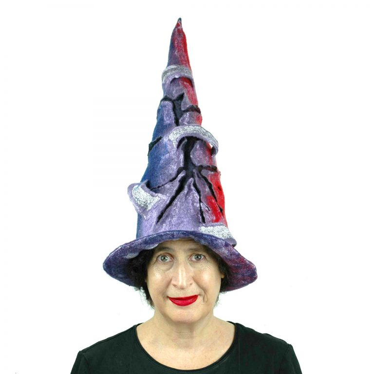 Juliane-Gorman_violet-protest-red-and-blue-felted-witch-hat