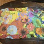 Silk and felt purse and scarf