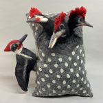Pileated Polka Pillow